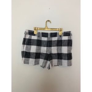 Loft Black & White checkered shorts